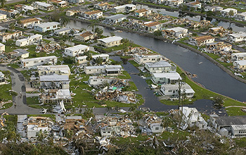 In August, 2004, Hurricane Charley tore apart whole communities of homes and businesses in Florida.