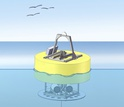 Sketch of the Environmental Sample Processor (ESP), suspended from a floatation buoy.
