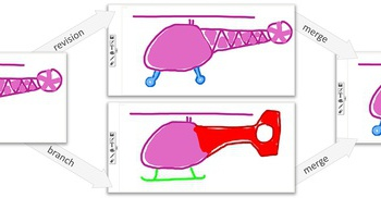 Concept sketches of a toy helicopter in skWiki