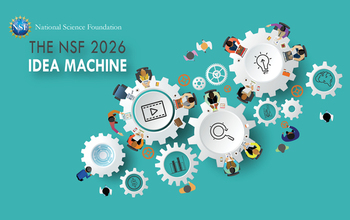 visual graphic of moving reels with the NSF logo and text displaying The NSF 2026 Idea machine
