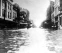 Flooded Market Street in Galveston, Texas, 1915