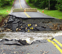 Damaged road