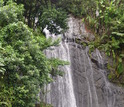 A Luquillo waterfall; such waterfalls are often found at river knickpoints.