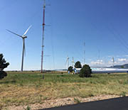 Wind farms are a renewable energy option for places with the right atmospheric conditions.