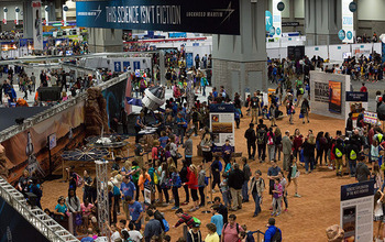 Overhead shot of the 2016 USA Science and Engineering Festival