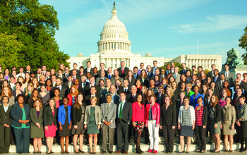 AAAS Science and Technology Policy Fellows, 2013-14 Cohort in front of the US Capitol