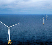 Offshore wind farms, such as this one off Block Island, Rhode Island, face similar challenges.