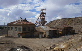 An abandoned mine in Kabwe, Zambia.