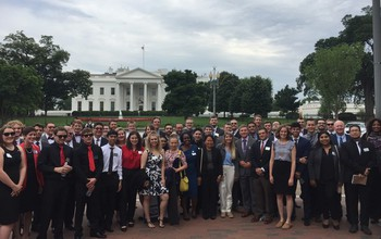 NSF staff employees outside