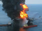 ships putting out fire after the Deepwater Horizon spill.