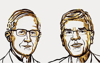 William Nordhaus and Paul Romer, winners of the 2018 Sveriges Riksbank Prize in Economic Sciences in memory of Alfred Nobel.