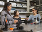 Fort Lewis College engineering students work in the laboratory with Megan Paciaroni.