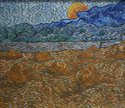 Vincent van Gogh captured landscapes and air flow in �Landscape with Wheat Sheaves and Rising Moon.�