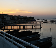Lesina Lagoon at sunset