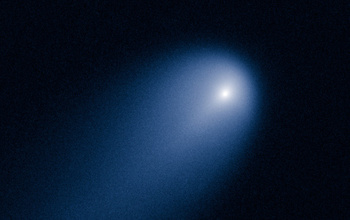 ISON comet viewed through NASA's Hubble Telescope in April 2013.
