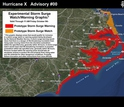 experimental storm surge watch/warning map with graphic