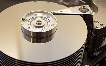 Photo of a computer disk drive.