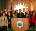 NSF Director France Cordova and Deputy Director Cora Marrett met with 2014 PECASE awardees at NSF.