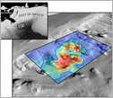 image of sea floor bathymetry of the study area of the Deepwater Horizon spill