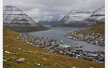 View of town in the Faroe Islands
