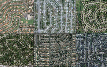 Aerial views of San Diego; Miami; Philadelphia; Chicago; Phoenix; and Levittown, N.Y.