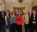 Photograph of Medal winners with Dr. C�rdova