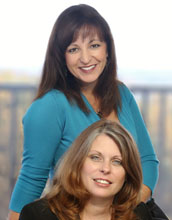 Photo of Julie Lenzer Kirk, top, and Renee Lewis, bottom, Path Forward Center co-founders.
