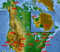Map of North America showing NSF's Long-Term Ecological Research Network.