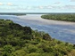 aerial view of of river Amazon