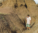 Photo of Geologist Thure Cerling of the University of Utah in the Turkana Basin in Kenya