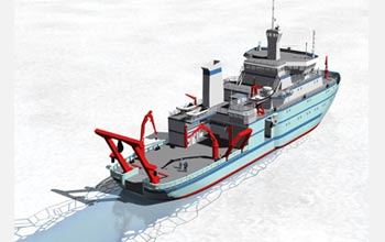 Artist's rendition of Alaska Regional Research Vessel