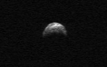 Image of Asteroid 2005 YU55 observed by Arecibo Telescope.