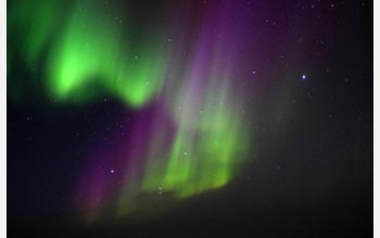 Photo of the aurora over the South Pole.