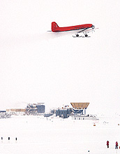 Plane over South Pole
