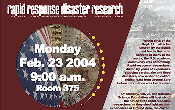 Rapid Response Disaster Research