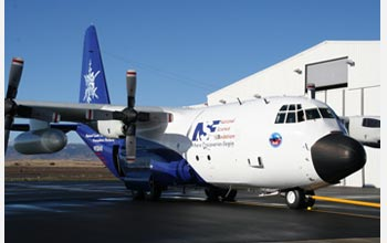 Photo of the NSF C-130 aircraft used in the ICE-L project.