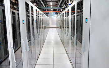 racks of servers at the University of Chicago Kenwood Data Center.