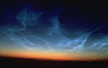 Photo showing blue, yellow and red colors of atmosphere.
