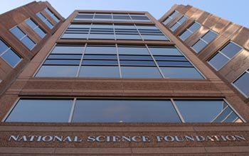 Photo of the entrance to the NSF headquarters building.
