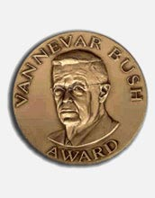Photo of the Vannevar Bush Award Medal.