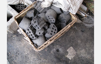 Photo of a pile of coal in Gansu province, China.