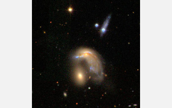 Image of an interacting galaxy.