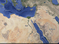 an aerial view of northern Africa, the Arabian Peninsula and the Mediterranean Basin