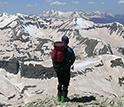 Photo of researcher Andrew Temple in the San Juan Mountains on May 12, 2009.