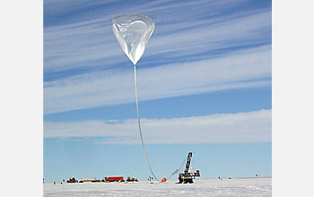 Photo of Antartic Balloon launch