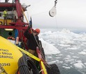 Researchers on vessel working to keep away ice