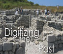 Image of the dig at Chersonesos with the words Digitizing the Past.