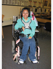 Photo of Yomara Bedolla, a high school student who uses a wheelchair.