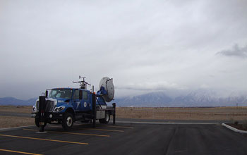 Image of the Doppler-on-Wheels in Utah's Wasatch Range.
