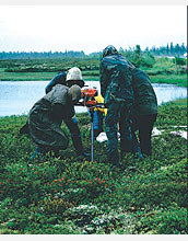 Scientists drill into frozen Siberian peat bogs to determine the bogs' impact on climate.